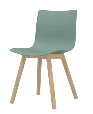 5W-3SW-PP - Solid wood base chair