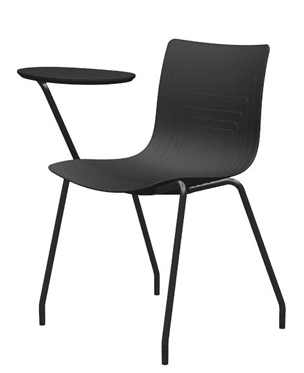 5W-1-PP+WR - Four legs chair with writing tablet
