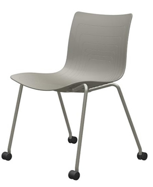 6W-1C-PP - Four legs chair with casters
